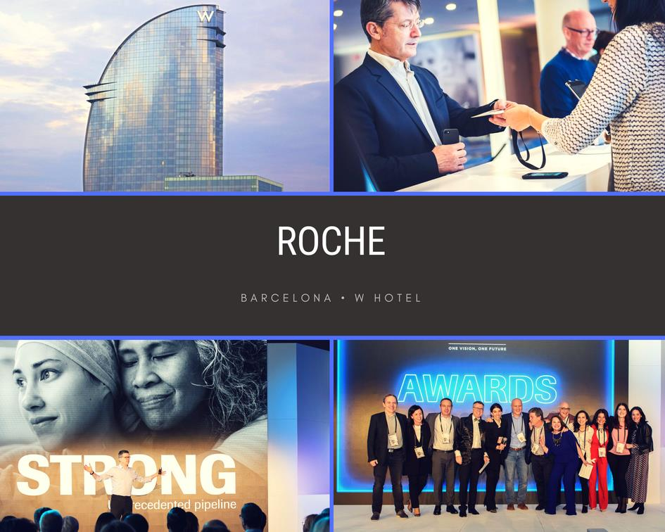 Photographer in Barcelona, Roche conference and gala at W Hotel