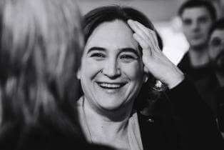 Ada Colau, Mayor of Barcelona at a public hearing