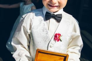 A very handsome ring bearer
