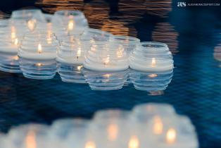 Floating candle decoration
