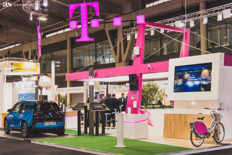 Deutsche Telekom's exhibition stand at Smart City Expo
