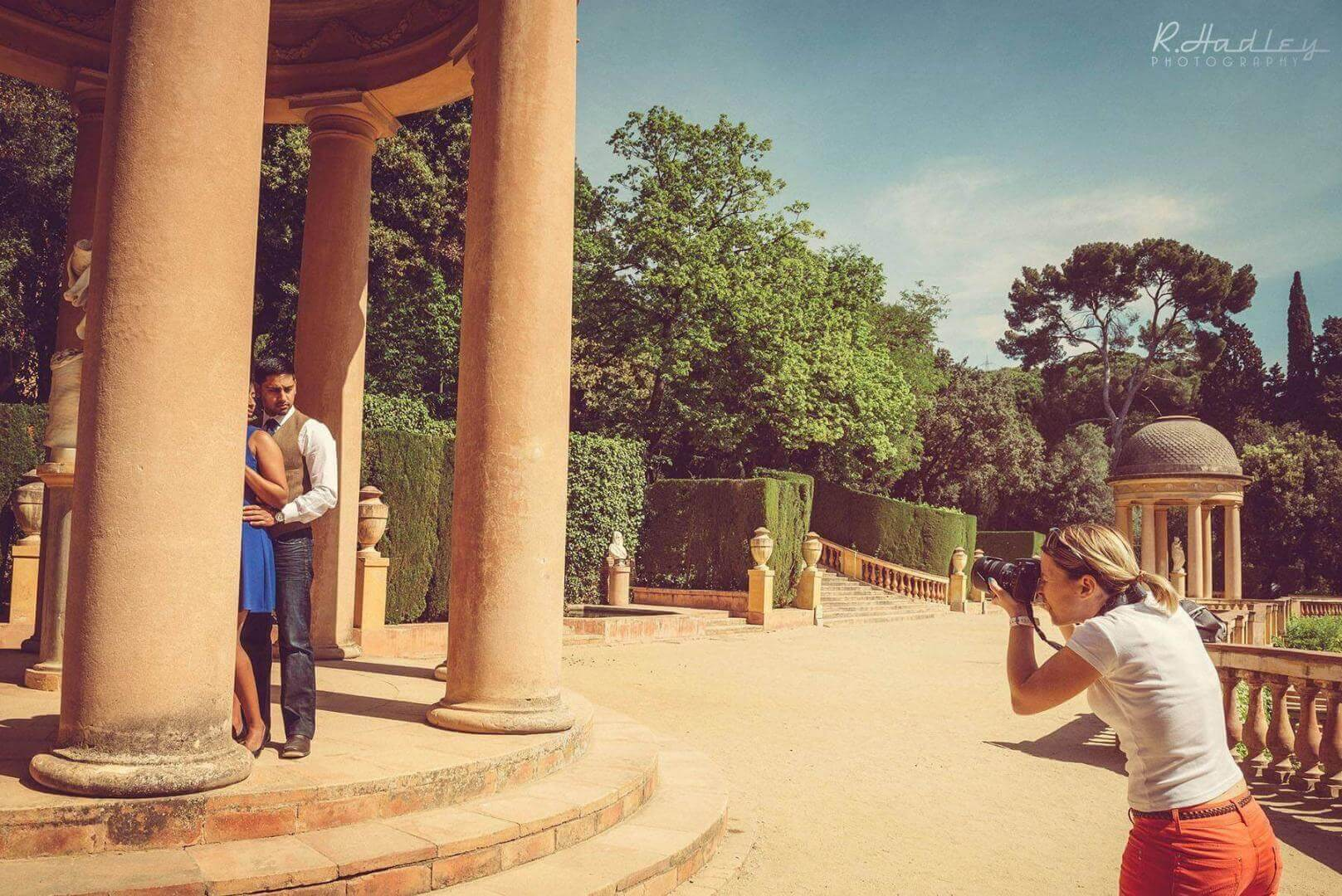 Engagement shoot in the Labyrinth Park